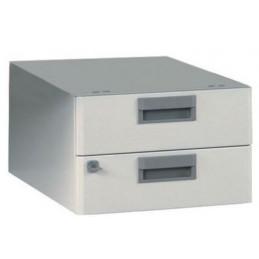 Bloc 2 tiroirs pour établis d'atelier hauteur 22 cm
