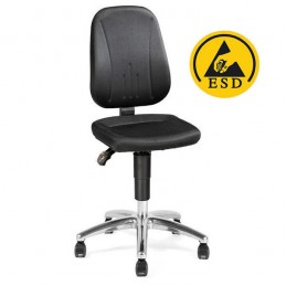 Chaise ergonomique ESD avec doubles roulettes