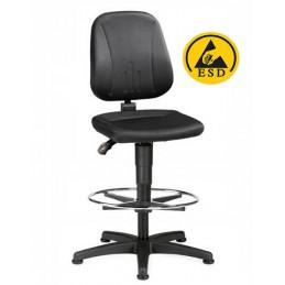 Chaise ESD haute ergonomique avec repose-pieds