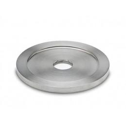 Rosace avec trou en inox pour tube diamètre 25.4 mm