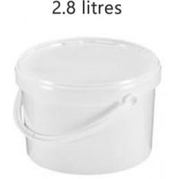 Seau alimentaire 2.8 litres standard avec couvercle