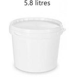Seau alimentaire 5.8 litres UN blanc avec couvercle