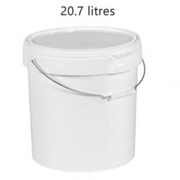 Seau alimentaire 20.7 litres anse métal sans couvercle