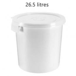 Seau alimentaire 26.5 litres poignée coquille sans couvercle