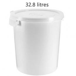 Seau alimentaire 32.8 litres poignée coquille sans couvercle