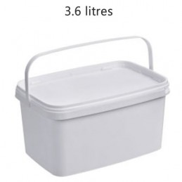 Seau rectangulaire 3.6 litres sans couvercle
