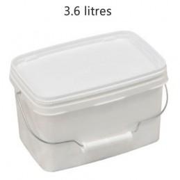 Seau rectangulaire 3.6 litres avec anse métal sans couvercle