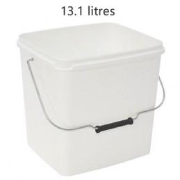 Seau rectangulaire 13.1 litres sans couvercle avec anse métal