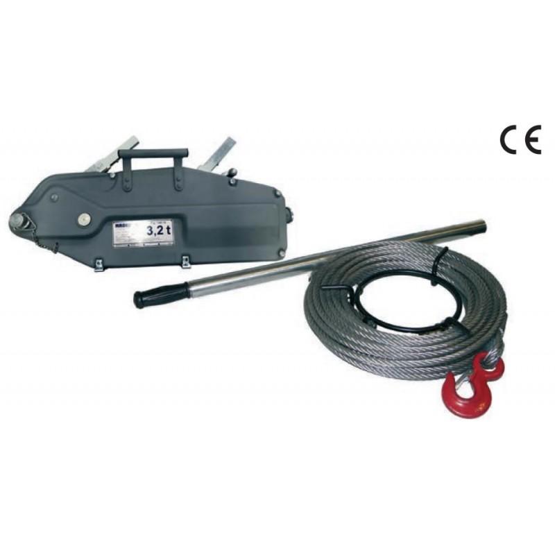 Treuil à câble passant acier