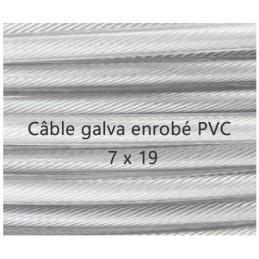 Câble 7 x 19 gaine PVC transparent