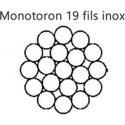 Cable inox 316 monotoron de 19 fils