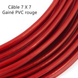Câble 7 x 7 gaine PVC rouge