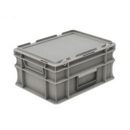 Bac EURONORM 400x300 mm 15 litres avec couvercle et poignées.