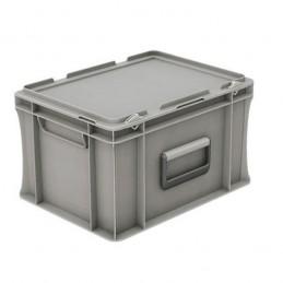 Bac EURONORM 400x300 mm 20 litres avec couvercle et poignées