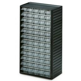 Armoire quincaillerie avec 60 tiroirs transparents