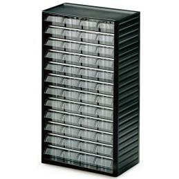 Armoire quincaillerie avec 48 tiroirs transparents