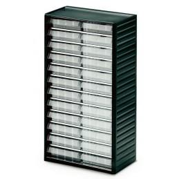 Armoire quincaillerie avec 24 tiroirs transparents