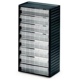 Armoire quincaillerie avec 8 tiroirs transparents