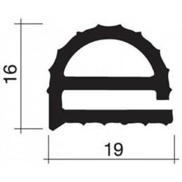 Joint 19 x 16 mm en caoutchouc pour porte