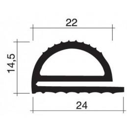 Joint 24 x 14.5 mm en caoutchouc pour porte
