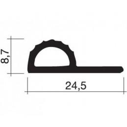 Joint 24.5 x 8.7 mm en caoutchouc bleu-gris pour porte