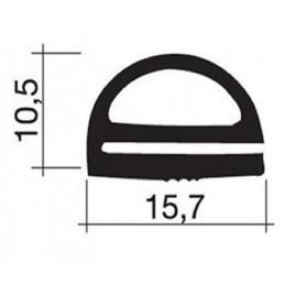 Joint 15.7 x 10.5 mm en caoutchouc gris pour porte