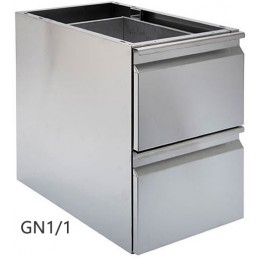 Coffret complet GN1/1 avec 2 tiroirs en inox