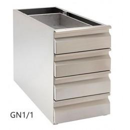 Coffret complet GN1/1 avec 4 tiroirs en inox