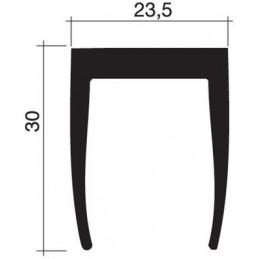 Joint 30 x 23.5 mm en caoutchouc noir