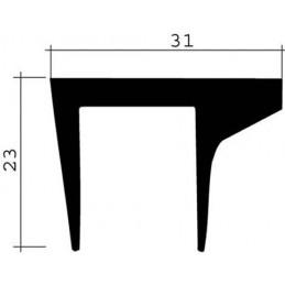 Joint 23 x 31 mm en caoutchouc noir