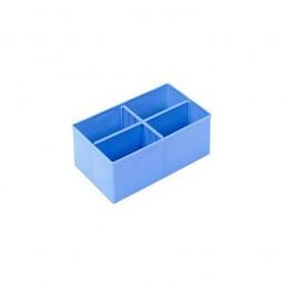Godet modulaire à 4 compartiments pour bac 600 x 400 mm
