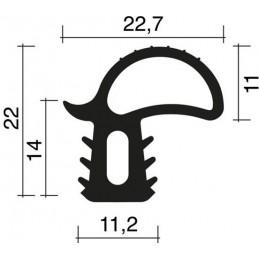 Joint 22 x 22.7 mm en caoutchouc noir