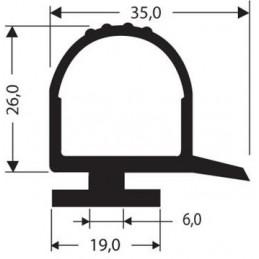 Bourrelet hauteur 26 mm noir