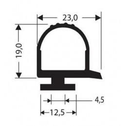 Bourrelet caoutchouc hauteur 19 mm noir