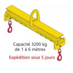 Palonnier de levage 3000 kg ECO réglable équipé