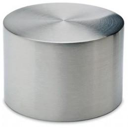 Embout plat inox à emboiter pour tube de 38 mm