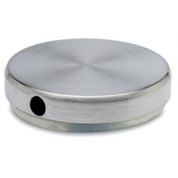 Embout inox de finition fileté pour tube de 38 mm