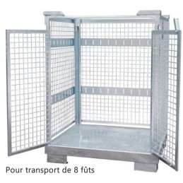 Panier de transport pour 8 fûts de 120 litres