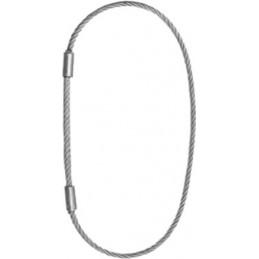 Elingue câble 10 mm fermée par double manchonnage