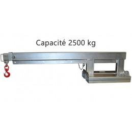 Potence galvanisée télescopique 2500 kg