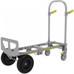 Diable chariot aluminium transformable.