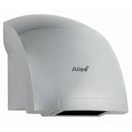 Sèche-mains automatique avec chauffage gris métallique