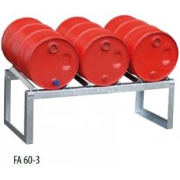Supports de fûts galvanisés 3 fûts