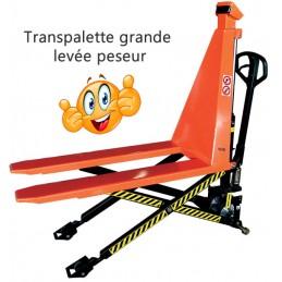 Transpalette grande levée peseur capacité 1000 kg