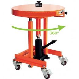 Table élévatrice avec plateau tournant 200 kg