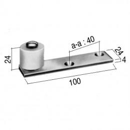 Guide pour porte avec roulette nylon
