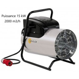 Chauffage 15 kW air pulsé inox mobile électrique