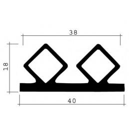 Joint 40 mm en EPDM pour chambres froides
