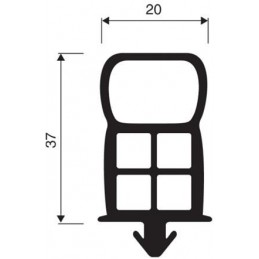 Joint 20 mm à clipser pour chambres froides