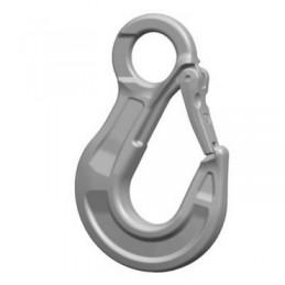Crochet à oeil avec linguet en INOX AISI 316